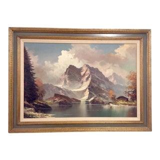 Julius Grodner Alps Landscape Painting