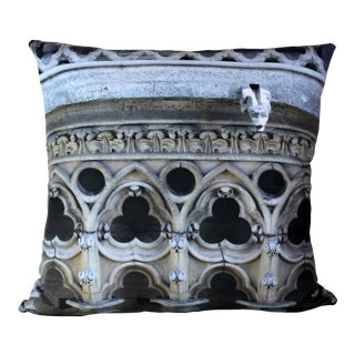 Architecture Notre Dame Exterior Photo Pillow For Sale