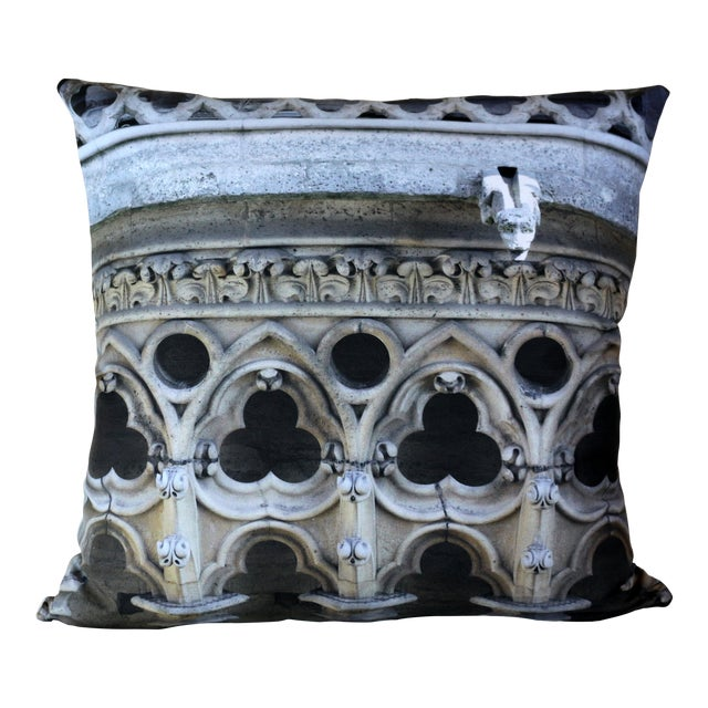 Architecture Notre Dame Exterior Photo Pillow For Sale