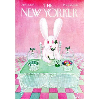 1974 New Yorker Cover, April 15 (Charles Addams), Easter For Sale