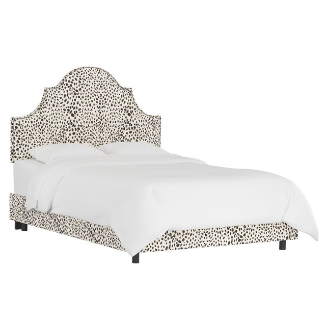 Queen Bed, Washed Cheetah Cream Grey For Sale In Chicago - Image 6 of 6