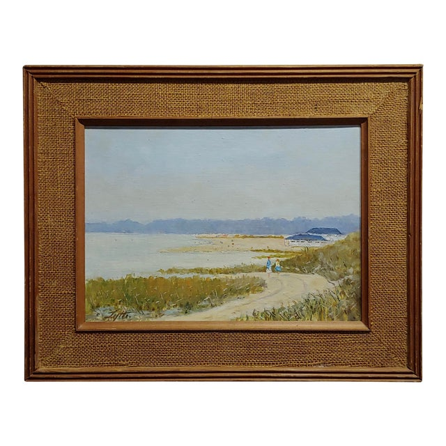 Ralph Arthur Lyle -Walking Trail on a California Beach Landscape -Oil Painting For Sale