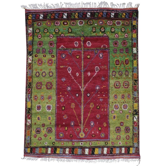 """Festive """"Tree-of-Life"""" Rug For Sale"""