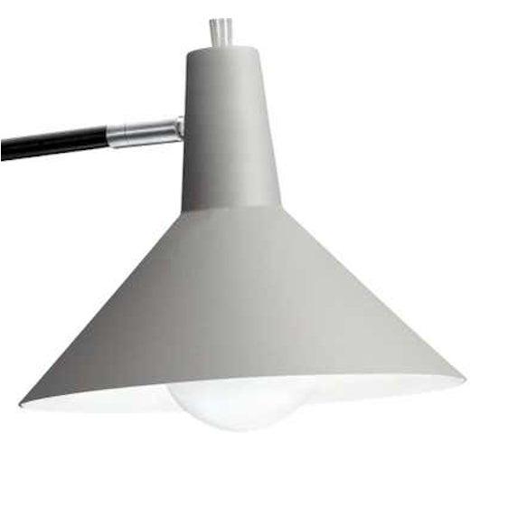 J.J.M. Hoogervorst Gray Paperclip wall light for Anvia. Hoogervorst's most popular 1950s design, this lamp remains a...