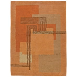 Vintage French Deco Rug For Sale