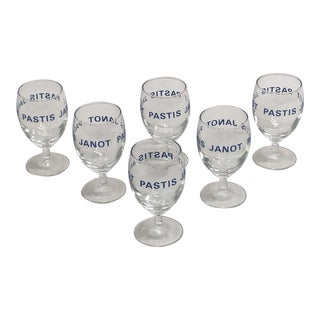 French Aperitif Glasses - Set of 6 For Sale