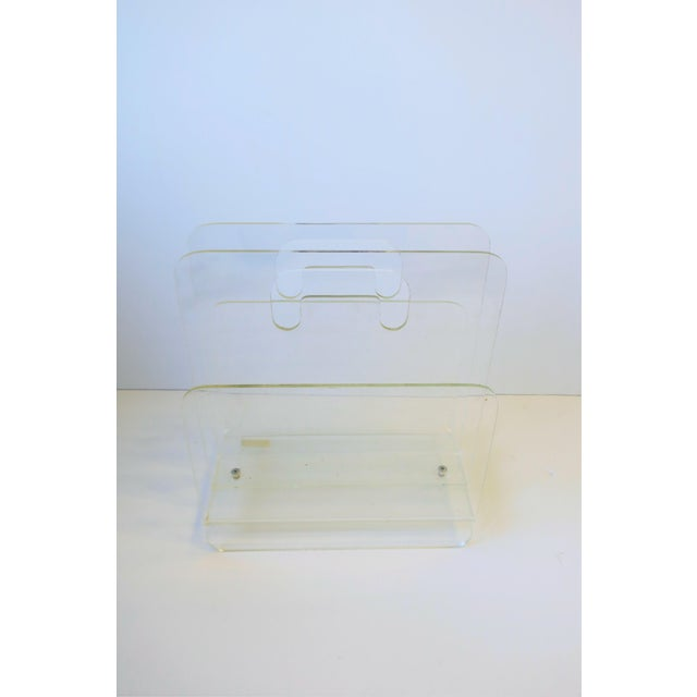 Clear Acrylic Magazine Holder, Circa 1976 For Sale - Image 10 of 13