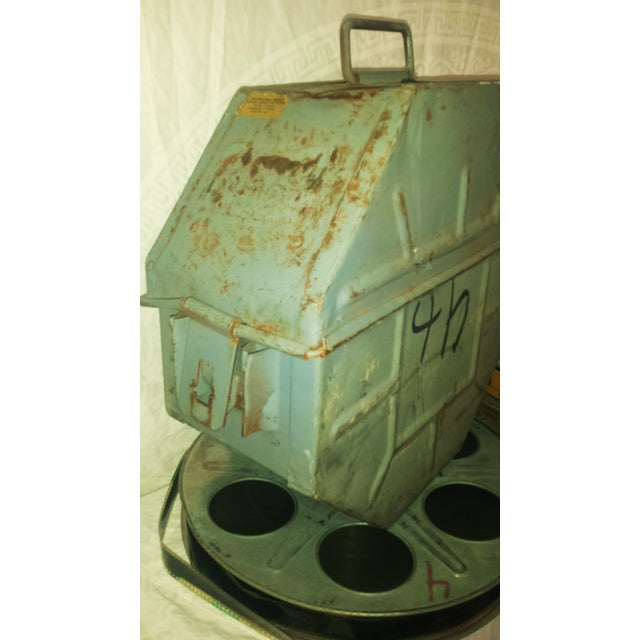 Vintage Movie Reel Canister 35mm with Three Reels For Sale - Image 7 of 10