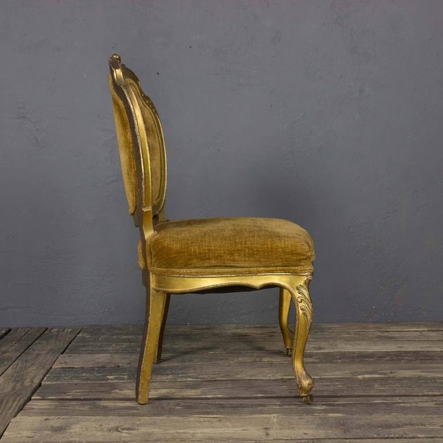 Pair of Rococo Revival Giltwood Side Chairs For Sale - Image 4 of 11