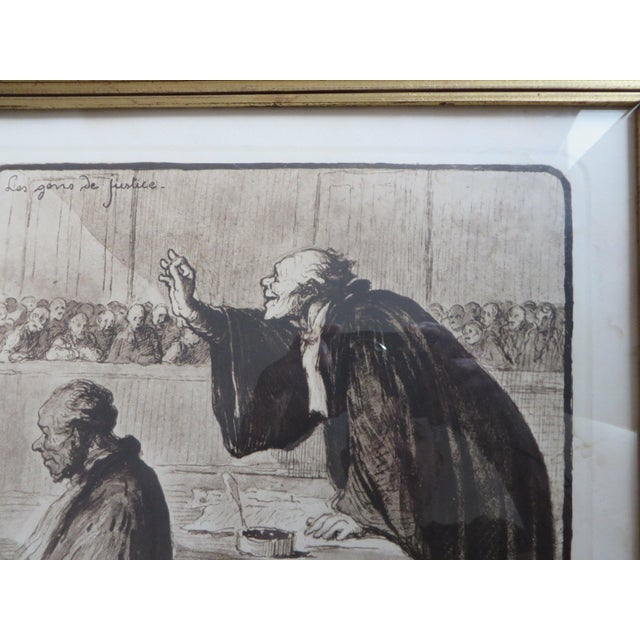 Signed Honore Daumier Caricatures - Set of 3 - Image 4 of 11