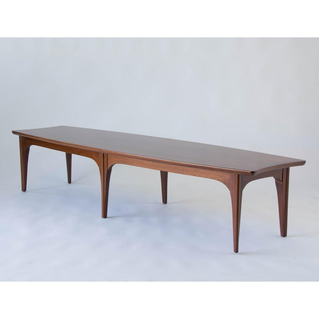 American Made Surfboard Coffee Table In Walnut And Rosewood Image 4 Of 8