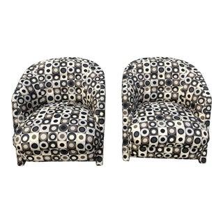 Milo Baughman (Attrib.) Mid-Century Modern Club Chairs- a Pair For Sale