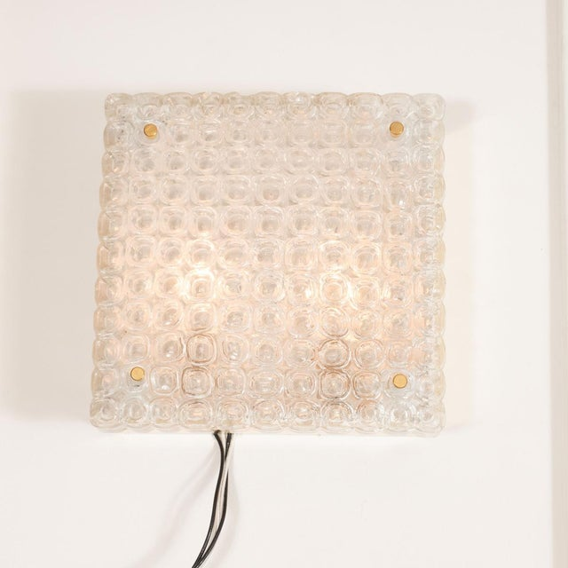 Mid-Century Modern 1970s Single Brass and Glass Sconce For Sale - Image 3 of 5