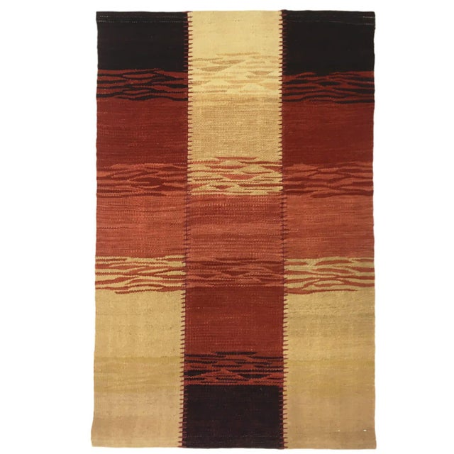 Rug & Relic, Inc. Sunset Rug & Relic Patchwork Yeni Kilim | 2 X 3 Flatweave Rug For Sale - Image 4 of 4