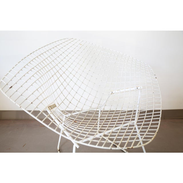 White Bertoia Diamond Chair by Knoll - Image 6 of 6