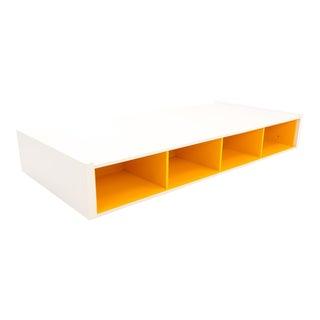 Herman Miller Mid-Century Modern Style Orange Storage Twin Bed For Sale