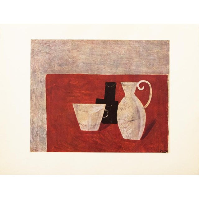 An excellent striking large original period lithograph after Nature Morte (Still Life) by French artist, painter, sculptor...