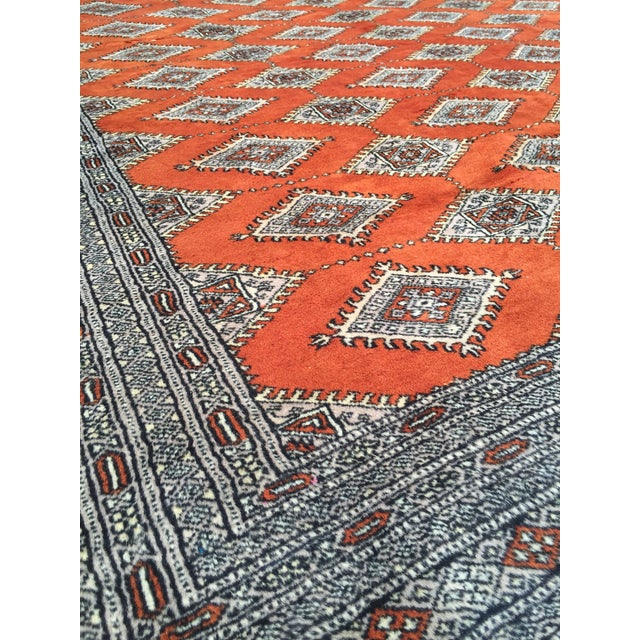 Red Rust/Cream Royal Bokhara Rug - 8′3″ × 11′3″ For Sale In San Francisco - Image 6 of 11