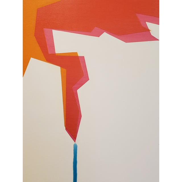 "Mid-Century Modern Ernest Regua Abstract Painting ""Flux"" For Sale - Image 3 of 8"