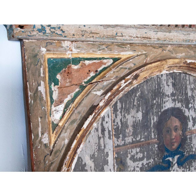 20th Century Neoclassical Trumeau Mirror For Sale - Image 4 of 5