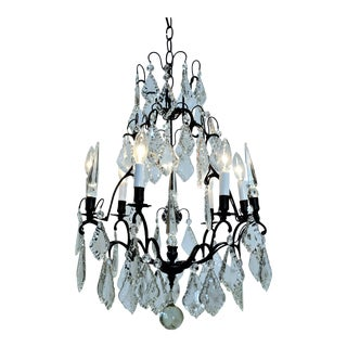 Six Light Louis XV Style Chandelier, Circa:1960. Western Europe. For Sale