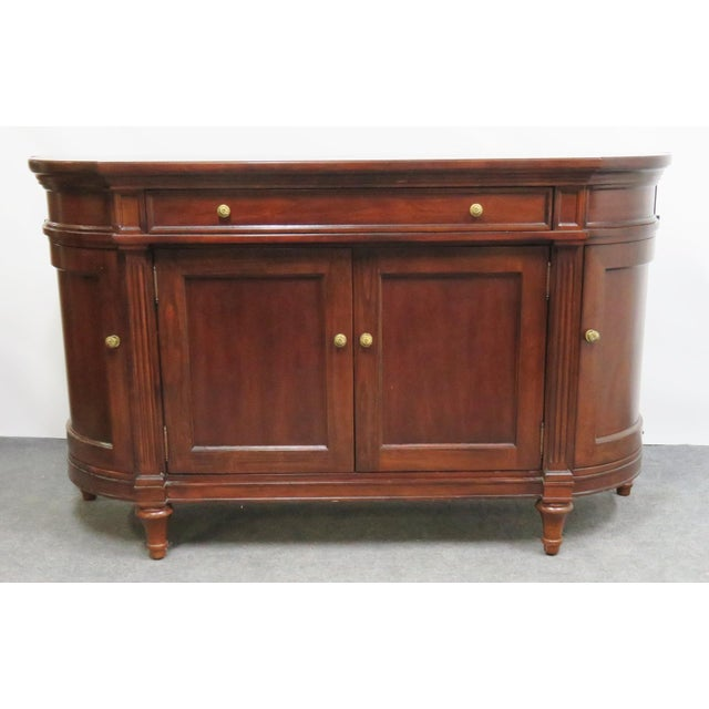 Regency Style Bernhardt Cherry Sideboard For Sale - Image 9 of 9