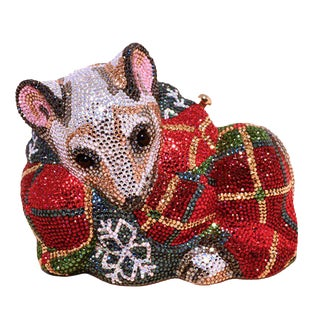 Judith Leiber Swarovksi Crystal Mouse Minaudiere Evening Bag For Sale