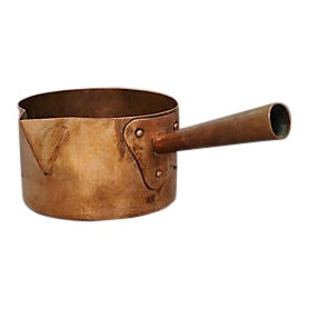 Antique French Copper Confectionery Pan For Sale