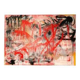 """I Felt Your Shape"" Mixed Media on Canvas Painting"