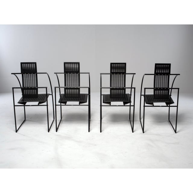 Italian Set of Eight Alias Italian Mario Botta Quinta Op Art Chairs For Sale - Image 3 of 13
