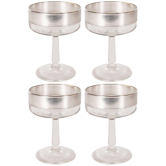 Mid-Century Modern Champagne Coupes by Dorothy Thorpe - Set of 4 For Sale