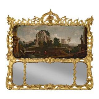 GEORGE II GILTWOOD OVERMANTEL MIRROR For Sale