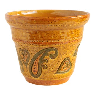 Aldo Londi for Bitossi Paisley Pottery Planter For Sale