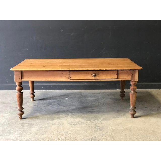 Tan Antique French Farm Table For Sale - Image 8 of 8