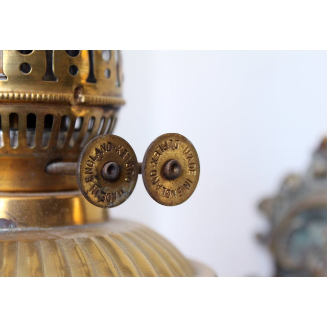 Traditional Brass Wall Bracket Oil Lamp For Sale - Image 3 of 5