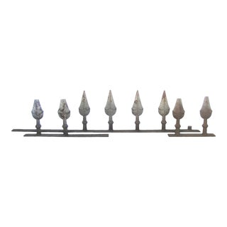 Antique French Architectural Iron Spear Elements, Set of 3 For Sale