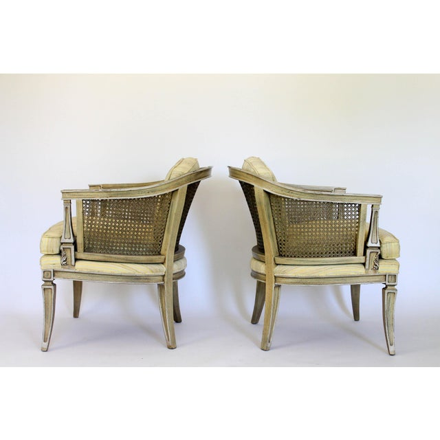 Caned Barrel Chairs - A Pair - Image 6 of 11
