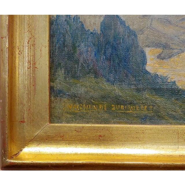 Valentin De Zubiaurre Jr -Spanish Basque Landscape -Oil Painting For Sale In Los Angeles - Image 6 of 9