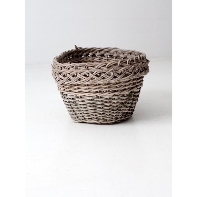 Antique Wicker Basket For Sale - Image 6 of 12