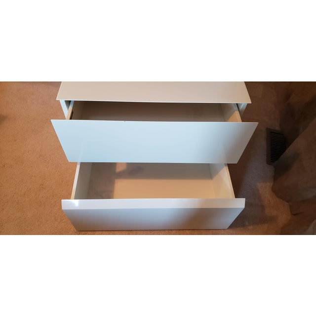 Rougier Rougier Cream Colored Lacquered End Tables - A Pair For Sale - Image 4 of 12