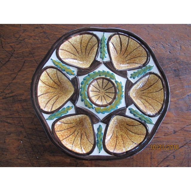Vintage French Quimper Oyster Plate - Image 2 of 5