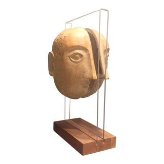 David Gil Double Sided Head Sculpture
