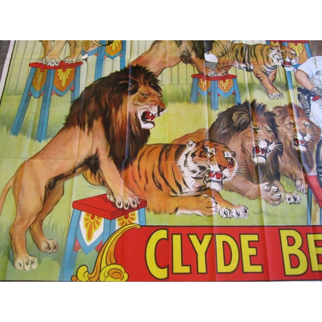 Gigantic Clyde Beatty Circus Poster - Image 3 of 7
