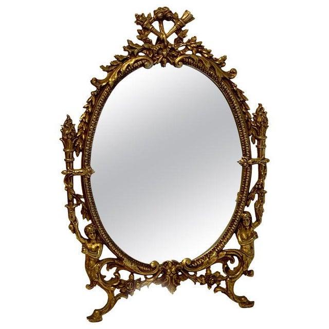 Napoleon III Bronze Dressing Mirror For Sale - Image 10 of 10