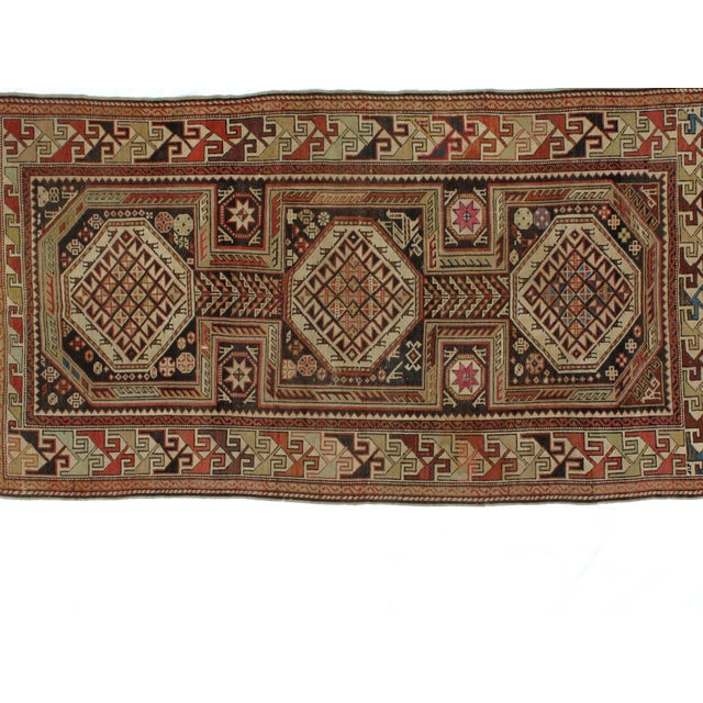"""Antique Leon Banilivi Caucasian Rug - 4'3"""" x 7'8"""" - Image 2 of 5"""