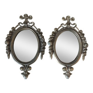 Vintage Small Italian Mirrors - a Pair