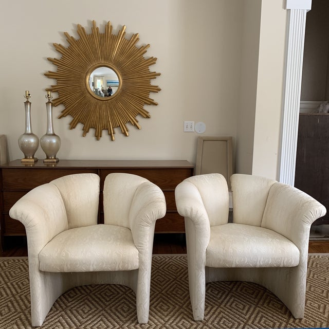 1970s Milo Baughman Thayer Coggin 1980s Deco Revival Shell Chairs For Sale - Image 9 of 9