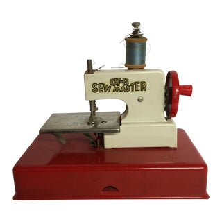 1940s German Made Tiny Sewing Machine For Sale
