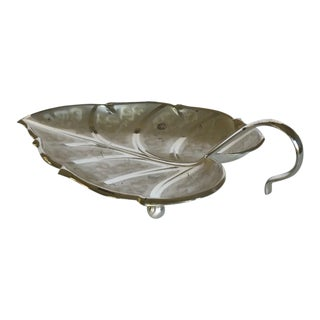 Early 20th Century Vintage Ikora Silverplate Leaf Dish For Sale