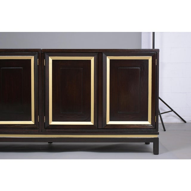 Mid-Century Modern Ebonized Credenza For Sale - Image 9 of 13